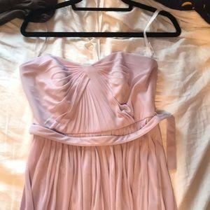 Full length lavender multi way dress
